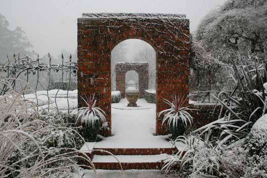 Cloudehill Garden in Winter